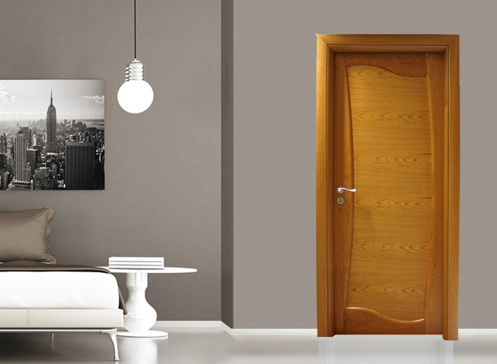 Brown and beige elegant bedroom - rendering